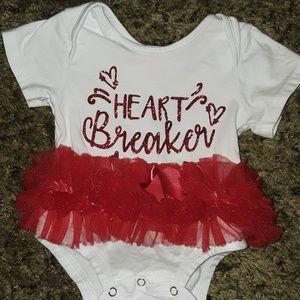 """Other - baby girl """"Heart Breaker"""" tutu onesie"""